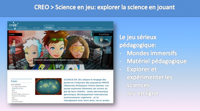 CREO - science en jeu